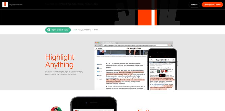 highlight anything best web development tools list