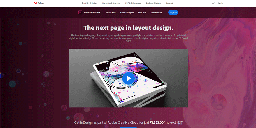 indesign best web development tools for designers
