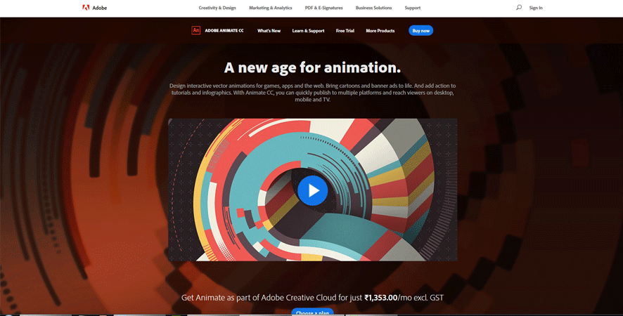 adobe animate best web development tools list