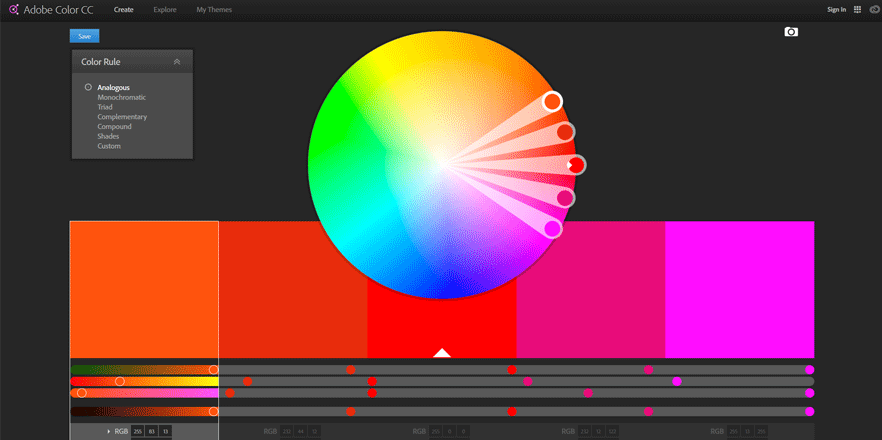 adobe color wheel best web development tools for developers