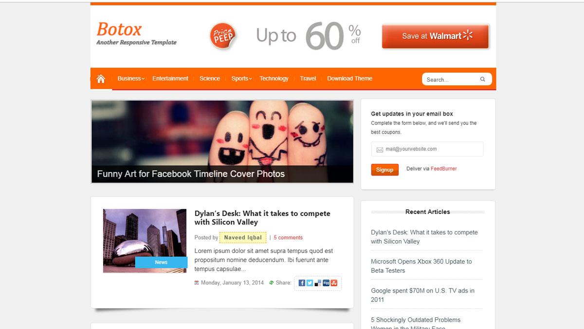 botox responsive blogger templates