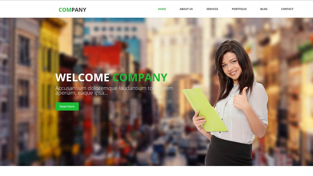 responsive html templates company theme