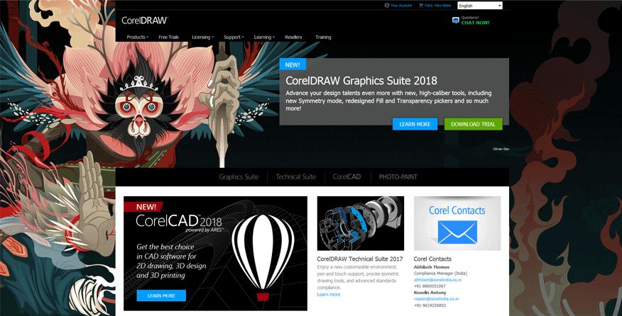 coralDraw best web development tools for designers