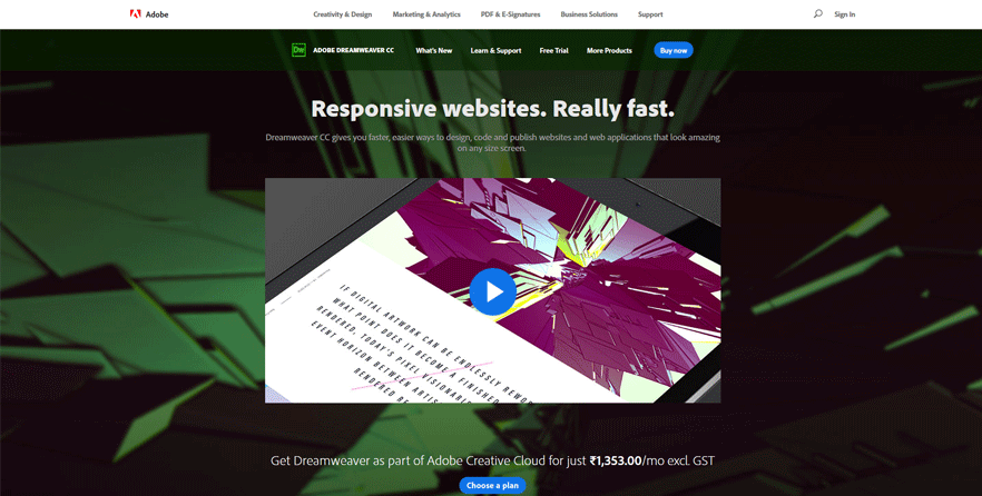 dreamweaver best web development tools for designers