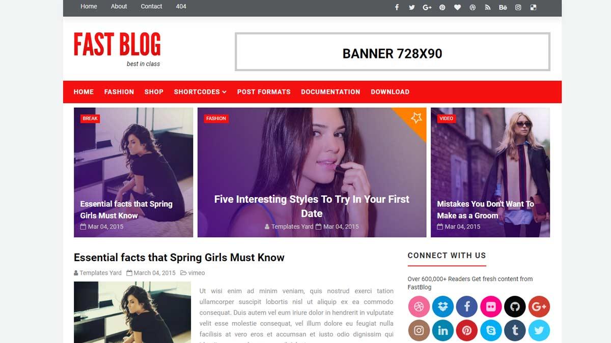free blogger themes