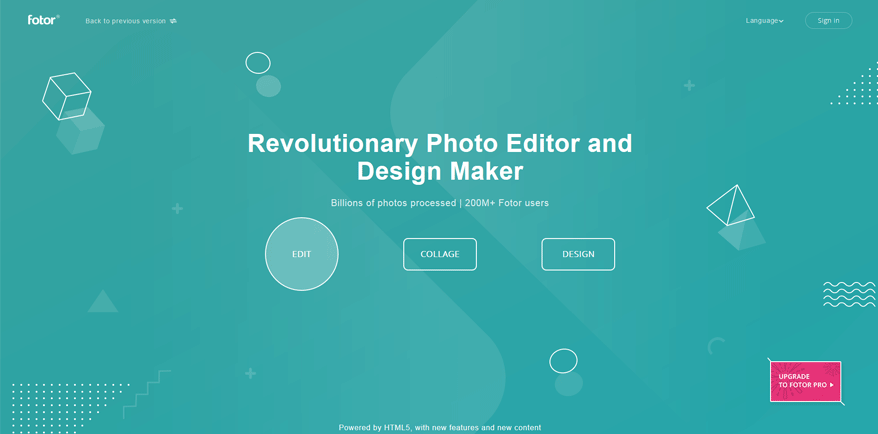 fotor best free website design tools