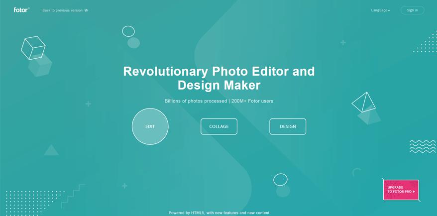 fotor best free website design tools