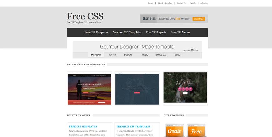 free css web app development tools