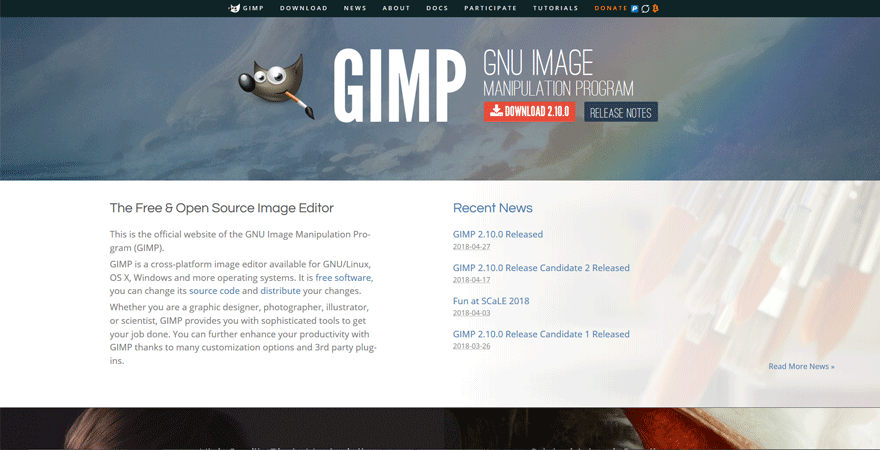 gimp best web development tools for developers