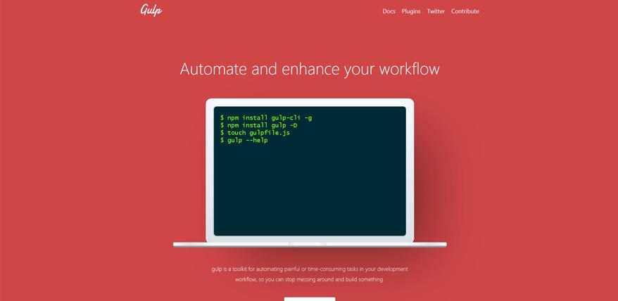 gulp best free website design tools