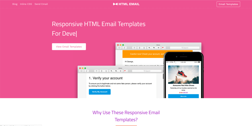 html email best web development tools list