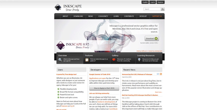 inkscape best web development tools list