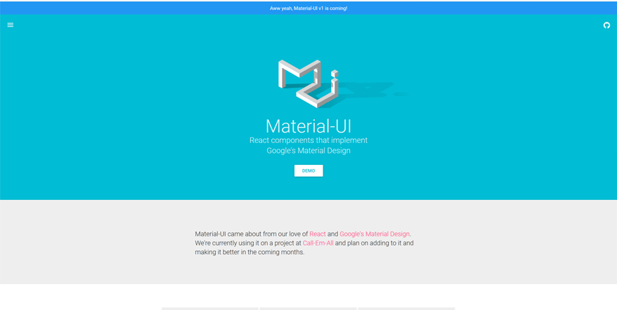 material ui best web application development tools