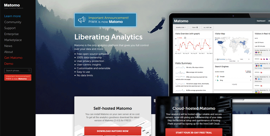 matomo website design software