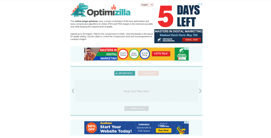 optimizilla best web development tools for developers