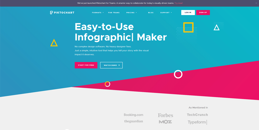 piktochart web development tools