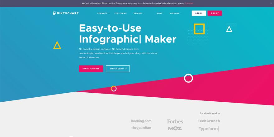 piktochart web development tools