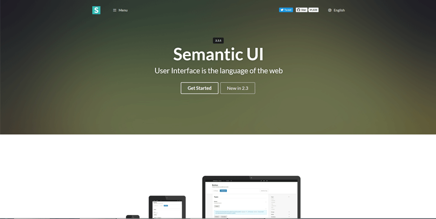 semantic ui free development tools for developers