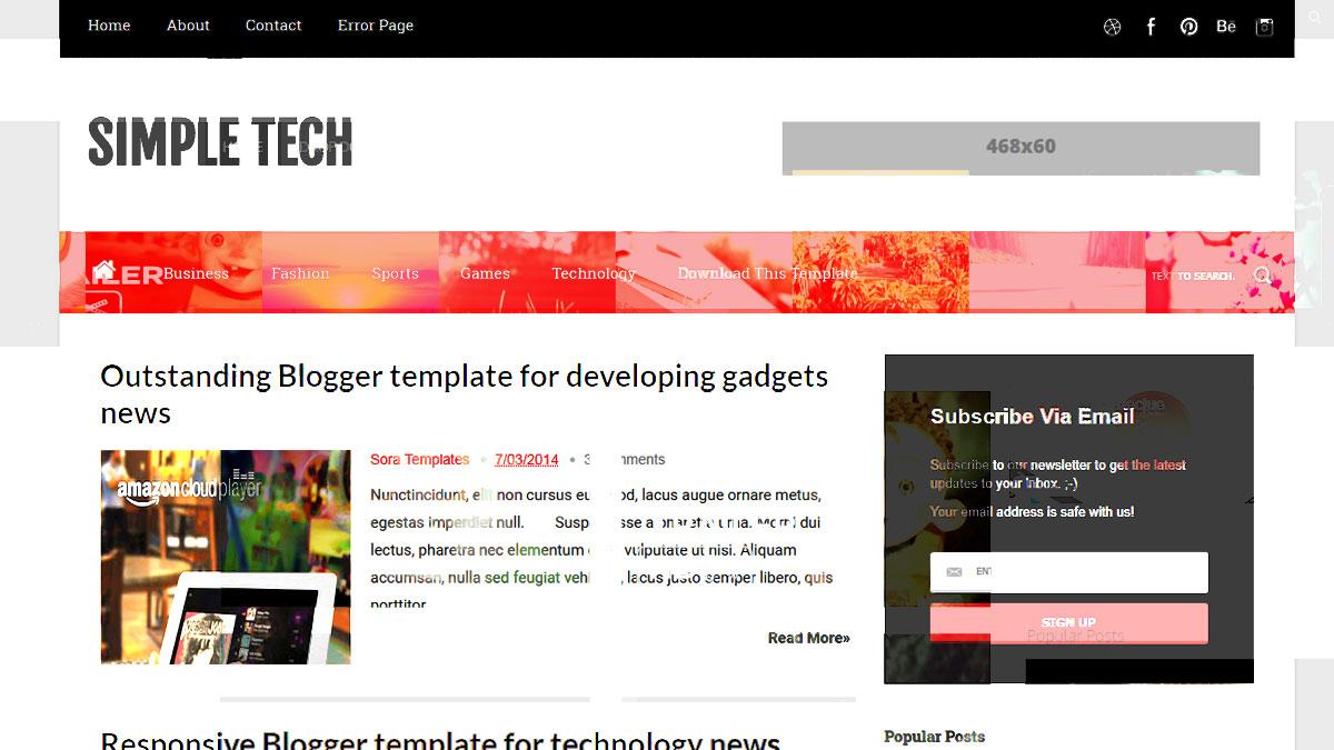 blogger templates html