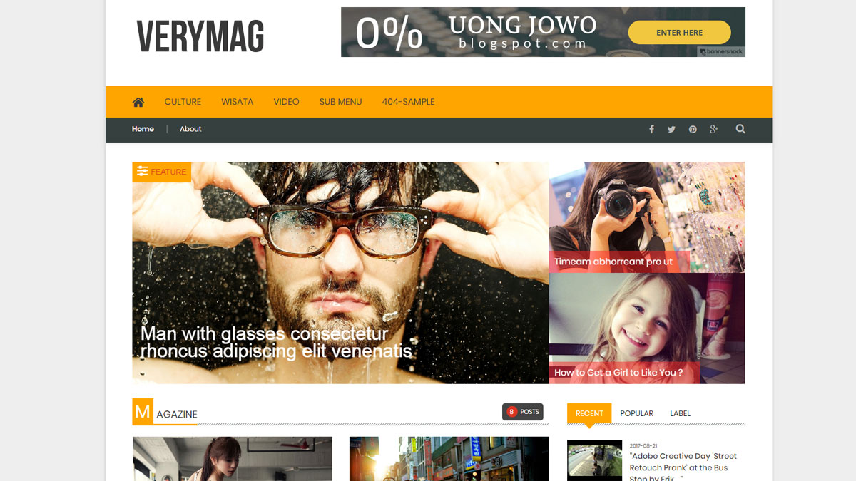 free blogger template responsive