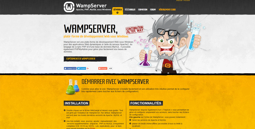 wampserver website development tools