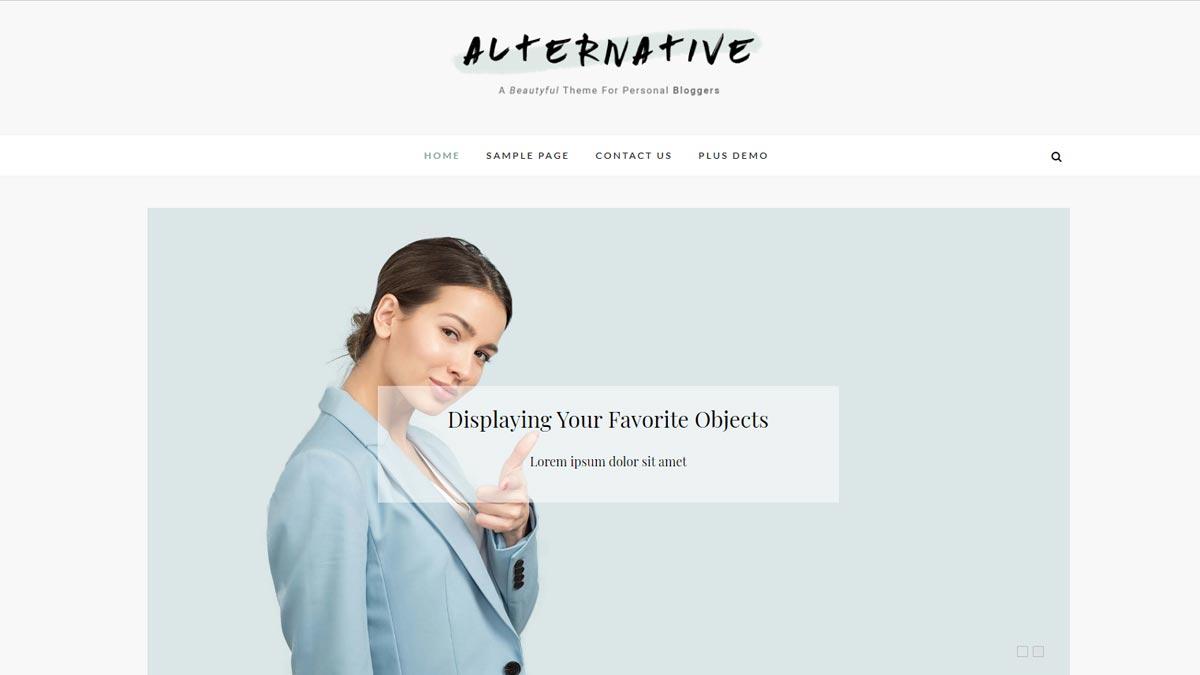 simple wordpress themes - alternative