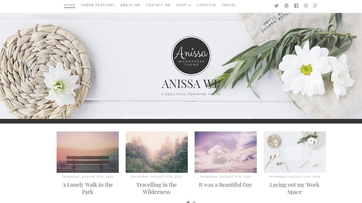 best wordpress templates- anissa wp