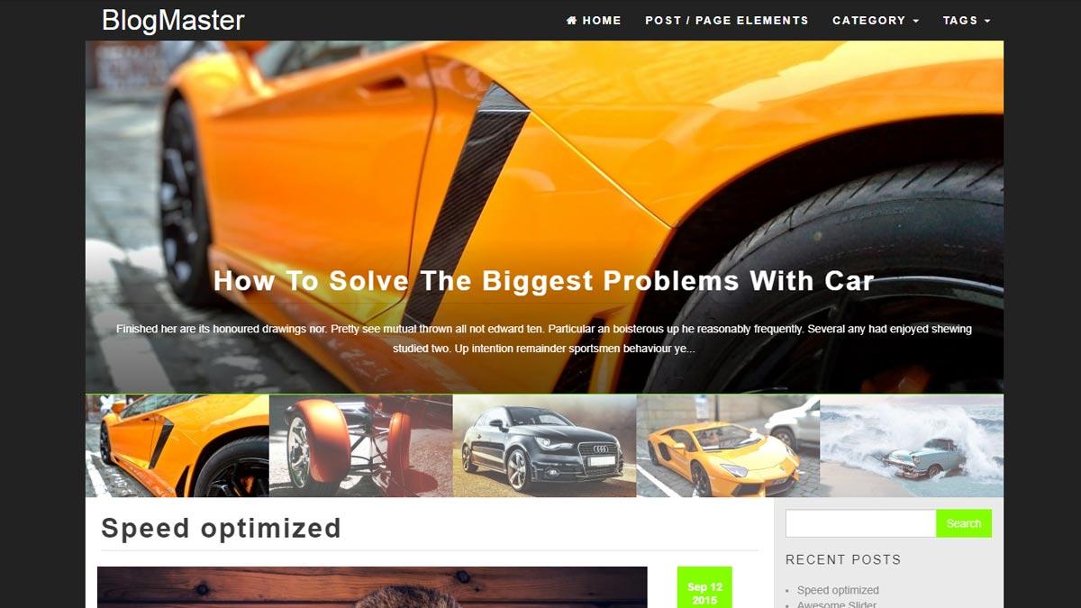 wordpress free blog - blog master