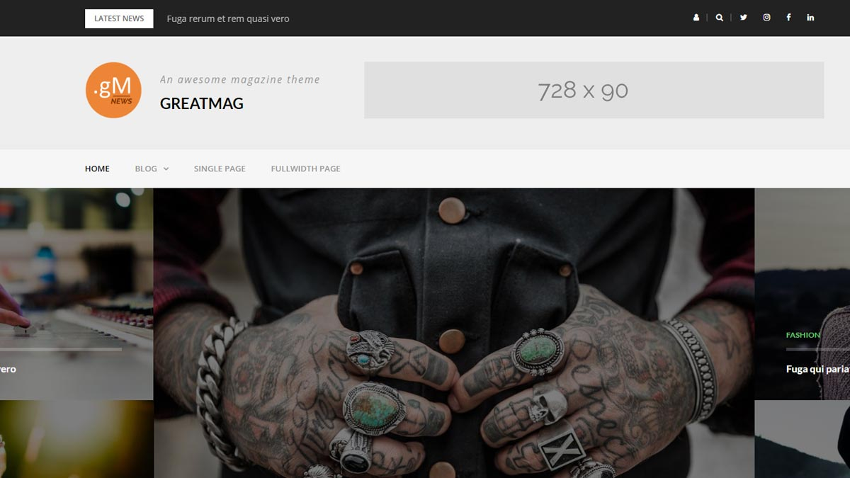 themes wordpress free - greatmag