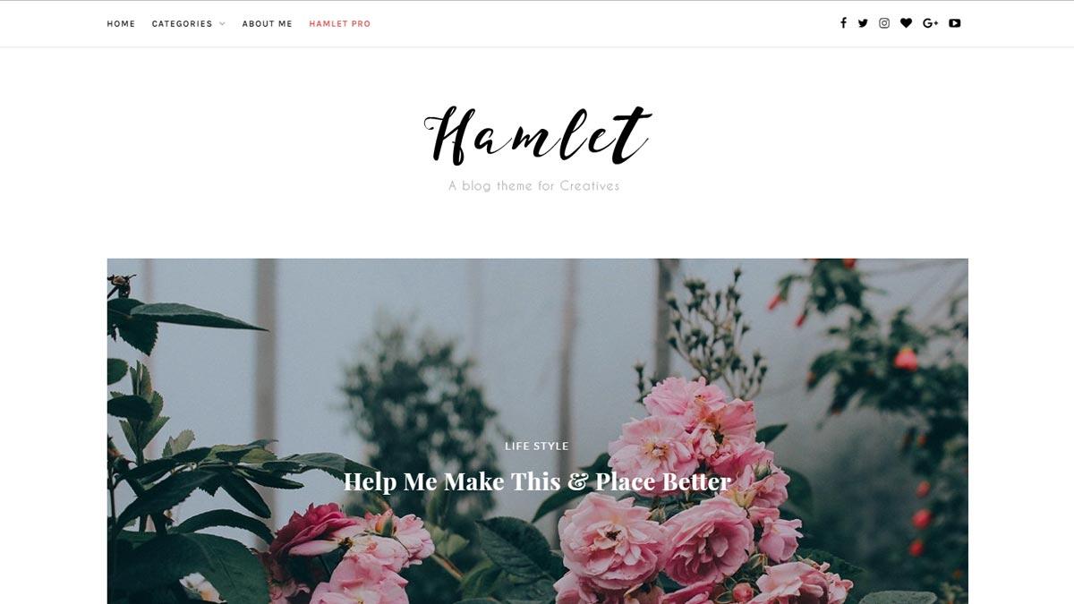 wordpress responsive themes - hamlet